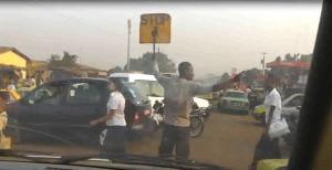 Schülerlotse in Conakry